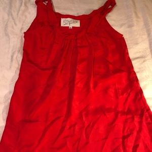 Rory Beca red silk top